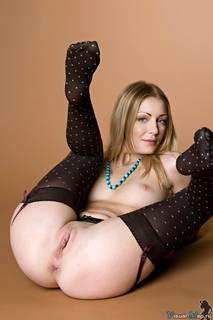 Foto del vintage erotica in calze spotty